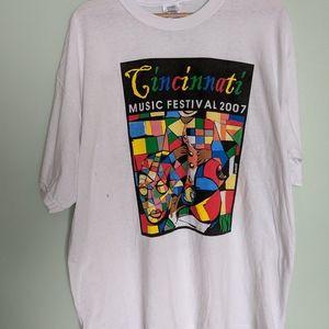 2007 Cincinnati Music Festival Shirt XL